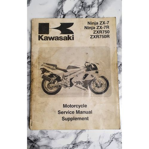 Kawasaki ZX-7 ZXR750 1993 Genuine Workshop Service Manual